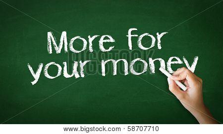 More For Your Money Chalk Illustration