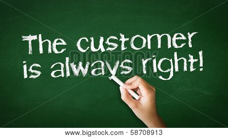The Customer Is Always Right Chalk Illustration