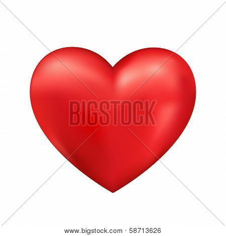 Shiny 3d vector heart