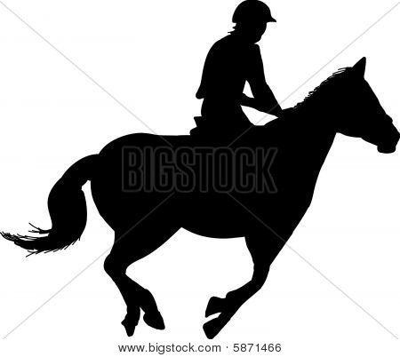 equestrian horse rider showjumping silhouette