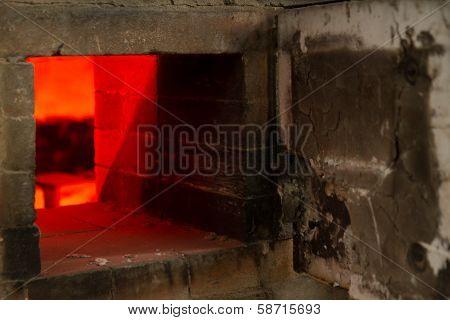 Old Pottery Kiln Firing