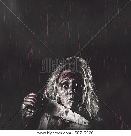 Dark Vintage Horror Poster. Night Terrors