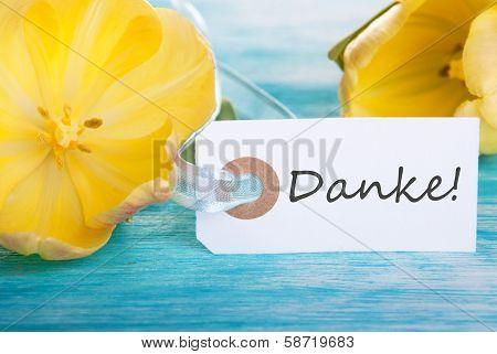Label Mit Danke