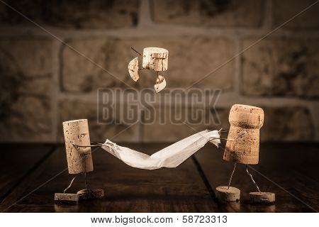 Wine Cork Figures, Concept Funny Family