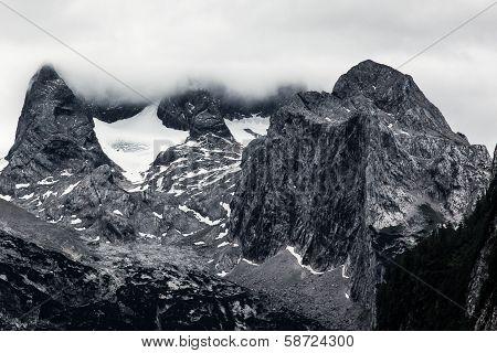 Huge Rock In Alps Mountains