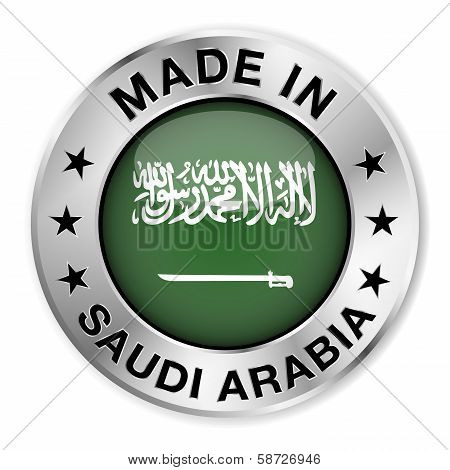 Made In Saudi Arabia Silver Badge