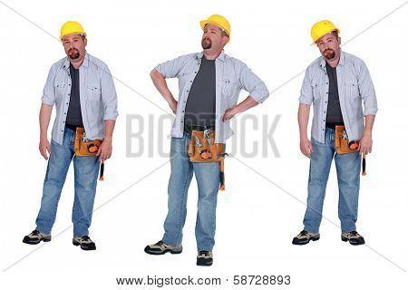 Dejected construction worker