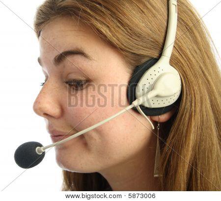 Sceptical Call Centre Operator