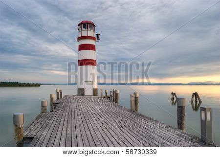 Lighthouse At Lake
