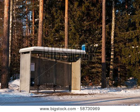 Bus Shelter In Januari A