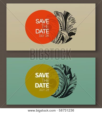 Elegant Baroque Badges. Elements For Design. Vector Illustration