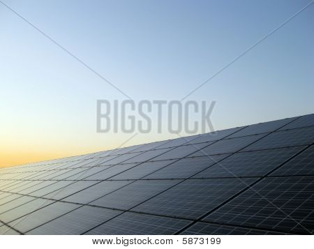 Solar Panels at Sunrise