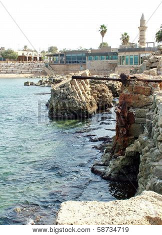 Ancient  Caesarea Port