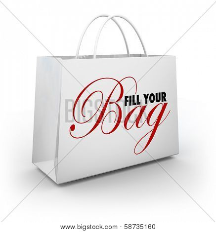 Fill Your Bag Shopping Spending Spree Store Products