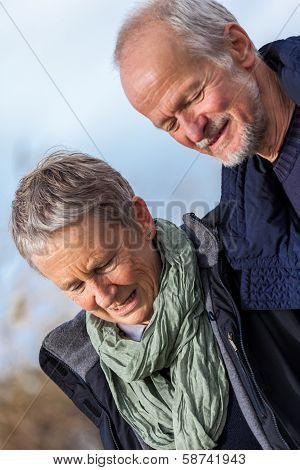 Happy Senior Couple Elderly People Together Outdoor