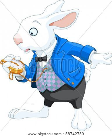White Rabbit with pocket watch