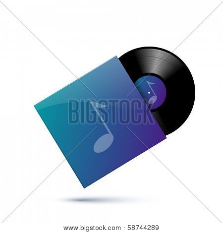 Record and sleeve, eps10 vector