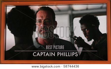 "LOS ANGELES - JAN 16:  ""Captain Phillips"" Nominated Best Picture at the 86th Academy Awards Nominations Announcement  at AMPAS Samuel Goldwyn Theater on January 16, 2014 in Beverly Hills, CA"