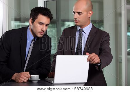 businessman having a hard time
