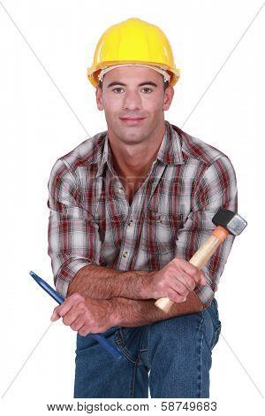 A male sculptor.