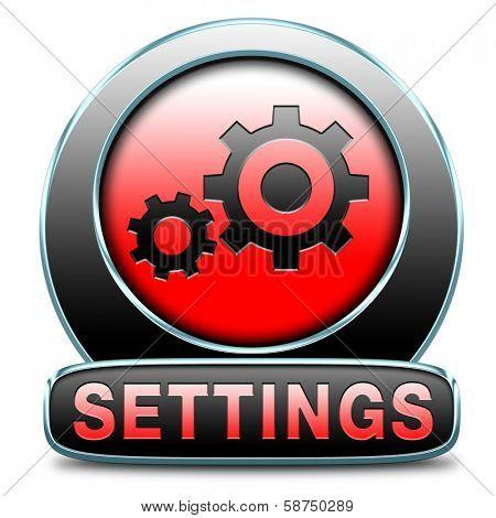 settings Cogwheel gear mechanism change or reset setting icon