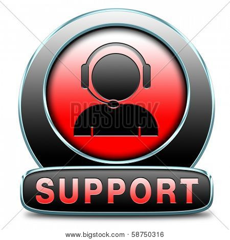support desk icon or help desk button technical assitance and customer service