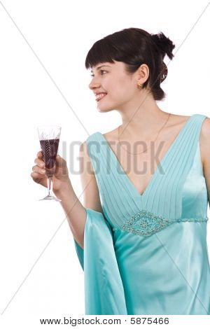 Woman With Wine Glass.