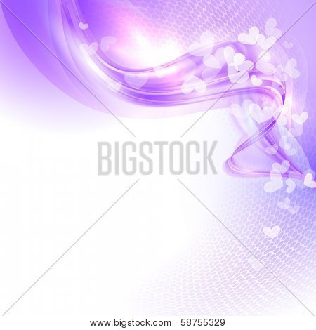 Abstract colorful light valentine background with hearts