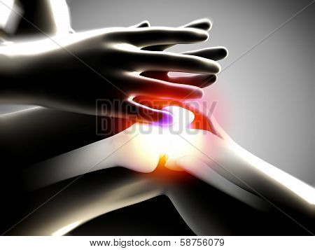 x ray of knee showing knee pain