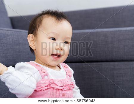Asian baby girl smile