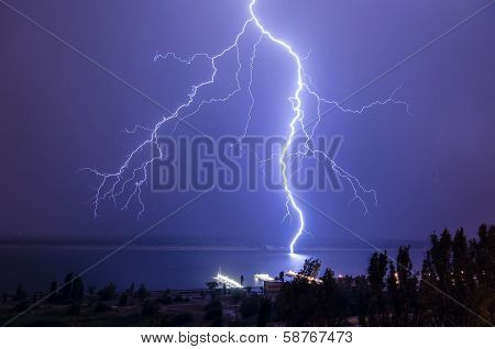 Lightning Over The River 8