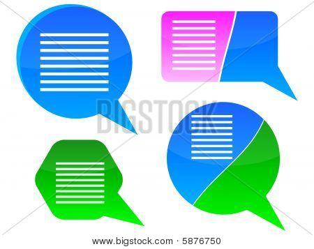 chat boxes illustration