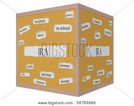 Ira 3D Cube Corkboard Word Concept