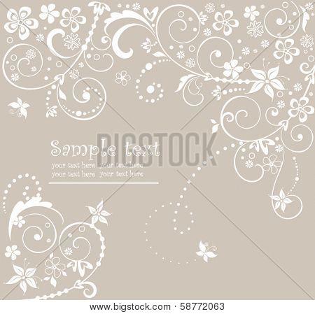 Wedding floral card