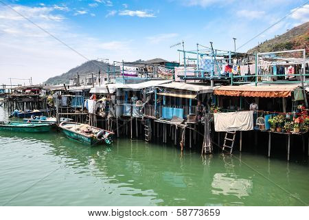 Tai O Fishing Village Stilt Houses In Hong Kong