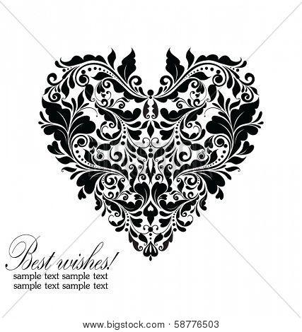 Wedding card (black and white)