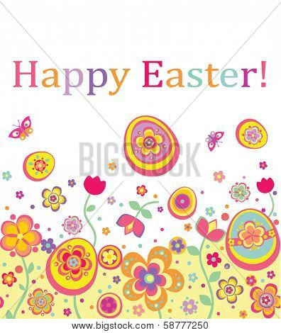 Easter seamless card