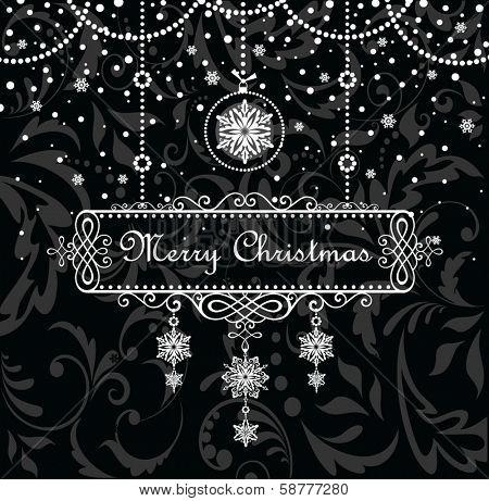 Christmas vintage frame