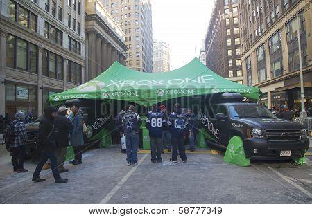 XBox One presented on Broadway during Super Bowl XLVIII week in Manhattan