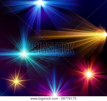 Set of 6 light effects