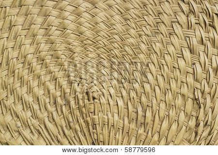 Pattern of palm leaf fan