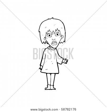 cartoon shocked woman