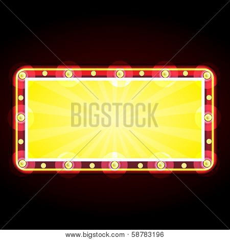 Neon Sign Advertising Announcement
