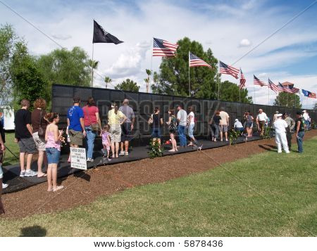 Replica of Vietnam war memorial