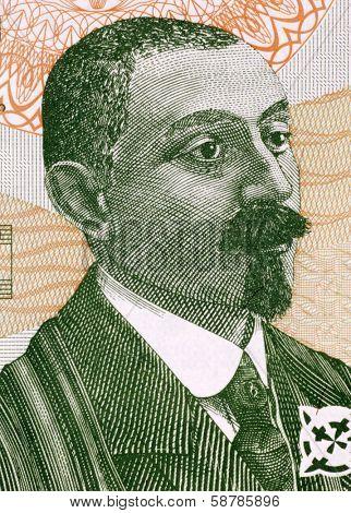 GEORGIA - CIRCA 2002: Zakaria Paliashvili (1871-1933) on 2 Lari 2002 Banknote from Georgia. Georgian composer.