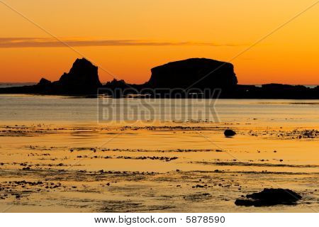 Nice Picture Of A Sunset Low Tide 