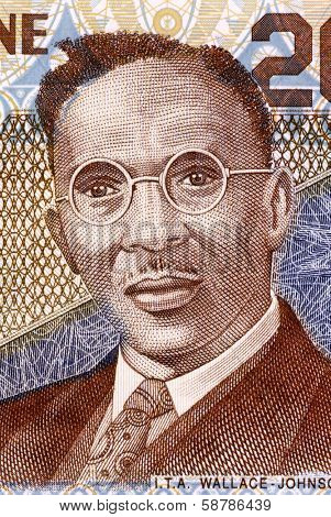 SIERRA LEONE - CIRCA 2006: I. T. A. Wallace-Johnson (1894-1965) on 2000 Leones 2006 Banknote from Sierra Leone. Workers  leader, journalist, activist and politician.