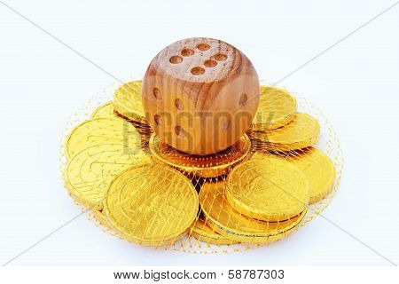 Dice And Chocolate Coins