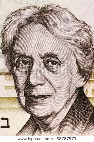 ISRAEL - CIRCA 1973: Henrietta Szold (1860-1945) on 5 Lirot 1973 Banknote from Israel. U.S. Jewish Zionist leader and founder of the Hadassah Women's Organization.