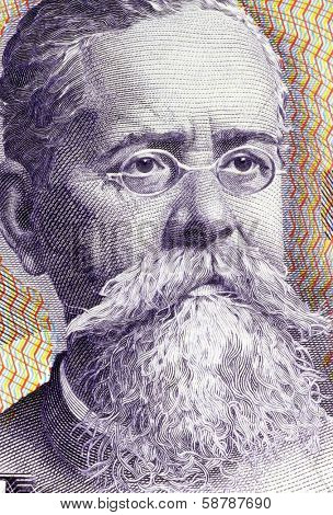 MEXICO - CIRCA 1982: Venustiano Carranza (1859-1920) on 100 Pesos 1982 Banknote from Mexico. One of the leaders of the Mexican Revolution.